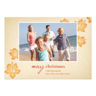 Tarjetas de Navidad tropicales Comunicado Personalizado