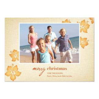 """Tarjetas de Navidad tropicales Invitación 5"""" X 7"""""""