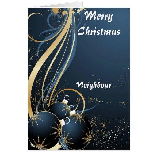 Tarjetas de Navidad vecinas