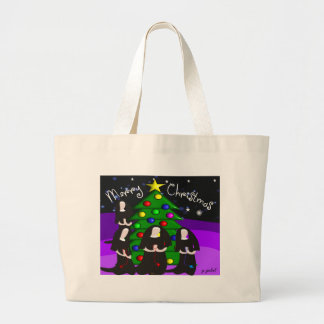 Tarjetas de Navidad y regalos de la monja Bolsa De Mano