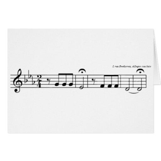 Tarjetas de no. 5 de la sinfonía de Beethoven