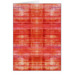 Tarjetas de nota abstractas rojas del arte moderno