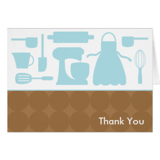 Tarjetas de nota azules de la cocina