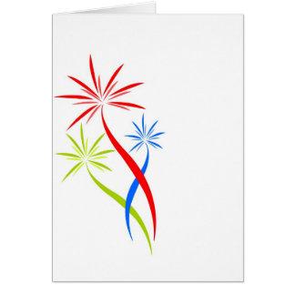 tarjetas de nota creativas de los fuegos artificia