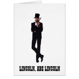 Tarjetas de nota de Abe del agente