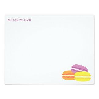 Tarjetas de nota de encargo de Macarons del Anuncio Personalizado