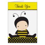 Tarjetas de nota de la abeja del bebé