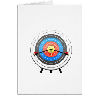 Tarjetas de nota de la blanco del tiro al arco