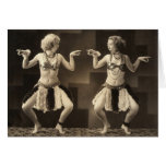 Tarjetas de nota de la diversión 2 bailarines del