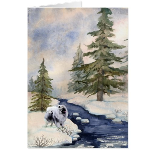 Tarjetas de nota de la escena del invierno