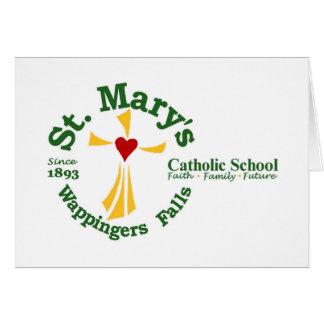 Tarjetas de nota de la escuela católica de St Mary