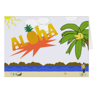 Tarjetas de nota de la HAWAIANA
