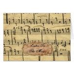 Tarjetas de nota de la música del vintage