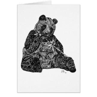 Tarjetas de nota de la panda gigante