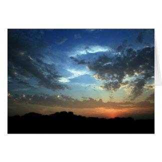 Tarjetas de nota de la puesta del sol