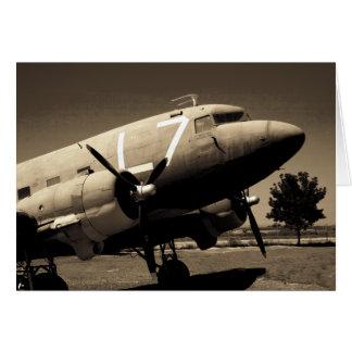 Tarjetas de nota de la sepia del C-47