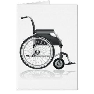 Tarjetas de nota de la silla de ruedas