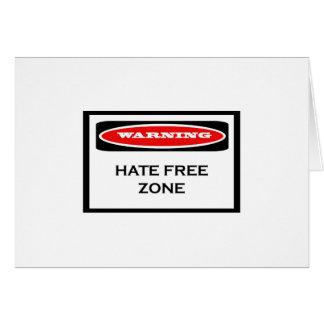 Tarjetas de nota de la zona franca del odio