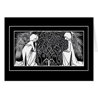 Tarjetas de nota de los ángeles de Nouveau del
