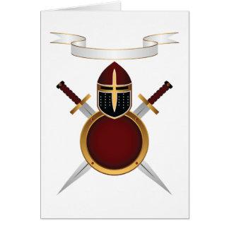 Tarjetas de nota de los escudos y de las espadas