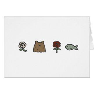 Tarjetas de nota de los Rosa-Oso-Rosa-Pescados