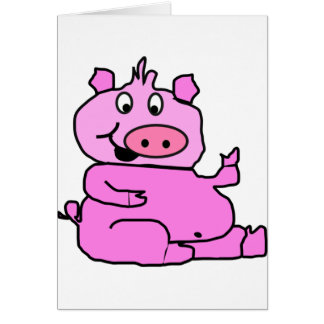 Tarjetas de nota de risa del cerdo