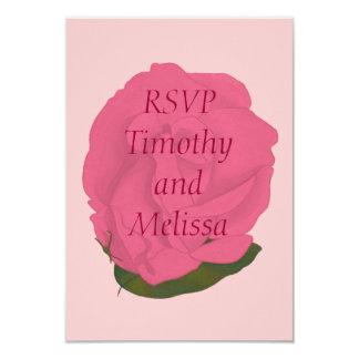 """Tarjetas de nota de RSVP, color de rosa rosado Invitación 3.5"""" X 5"""""""