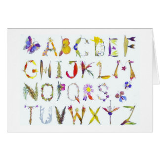 Tarjetas de nota del alfabeto