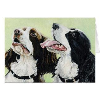 Tarjetas de nota del arte de los perros de aguas