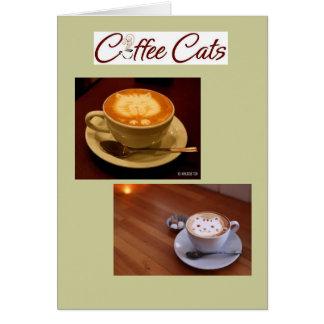 Tarjetas de nota del café