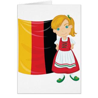 Tarjetas de nota del chica de Oktoberfest