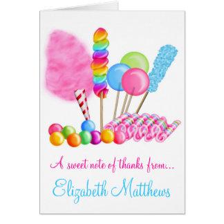 Tarjetas de nota del circo del caramelo