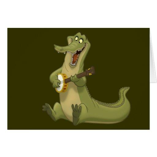 Tarjetas de nota del cocodrilo del Banjo-Strummin'