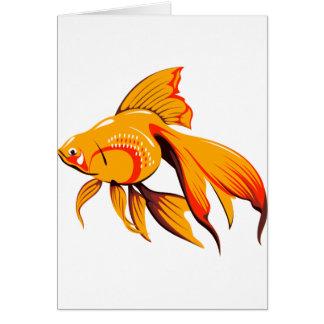 Tarjetas de nota del Goldfish