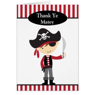 Tarjetas de nota del muchacho del pirata