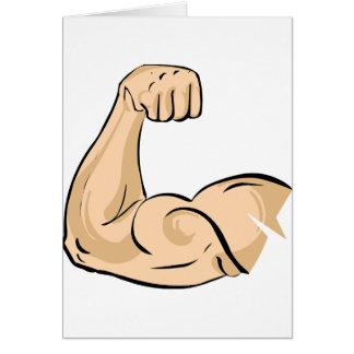 Tarjetas de nota del músculo del brazo