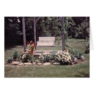 Tarjetas de nota del oscilación del jardín