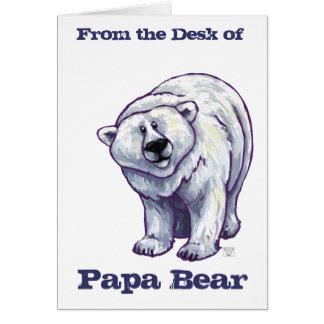 Tarjetas de nota del oso polar del oso de la papá