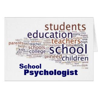 Tarjetas de nota del psicólogo de la escuela
