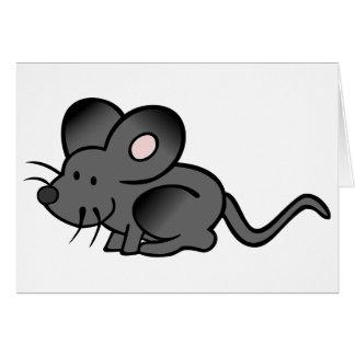 Tarjetas de nota del ratón del dibujo animado