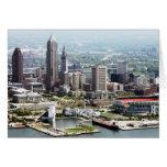 Tarjetas de nota dobladas 5x7 de Cleveland