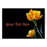 Tarjetas de nota elegantes de los tulipanes de la