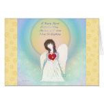 Tarjetas de nota en blanco inspiradas del ángel