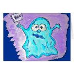 Tarjetas de nota - fantasma de Halloween