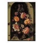 Tarjetas de nota florales de la bella arte