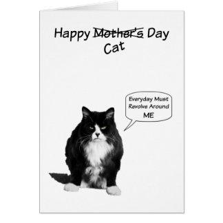 Tarjetas de nota gruñonas del día de Cat Mother