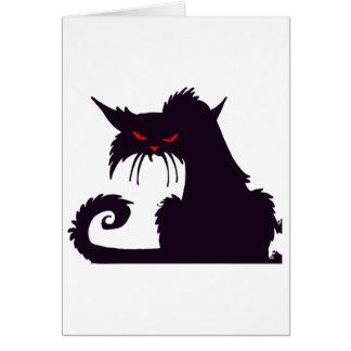 Tarjetas de nota gruñonas del gato negro
