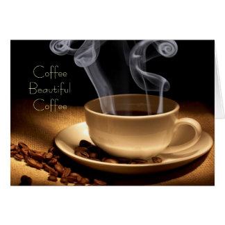 Tarjetas de nota hermosas del café