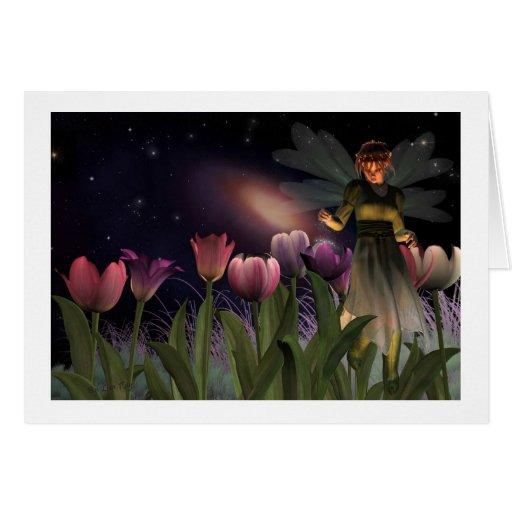 Tarjetas de nota mágicas de la noche de hadas