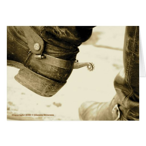 Tarjetas de nota occidentales de las botas de vaqu